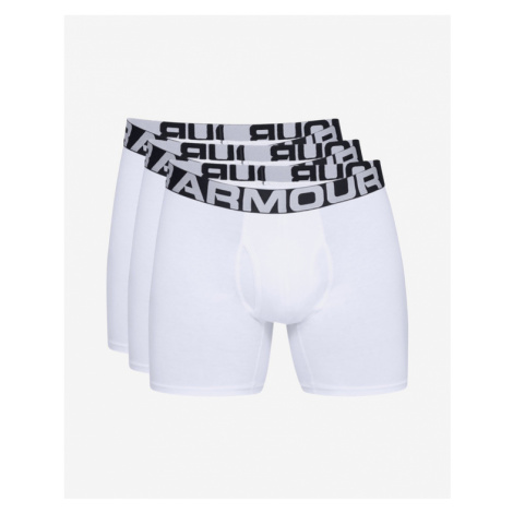 """Under Armour Charged Cotton® 6"""" Boxers 3 ks White"""