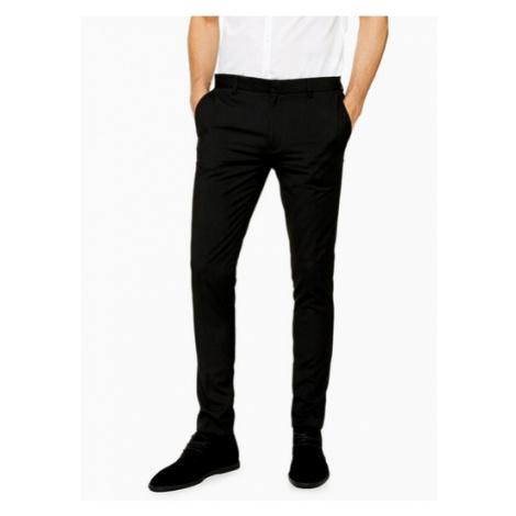 Mens Black Super Skinny Fit Smart Trousers, Black Topman