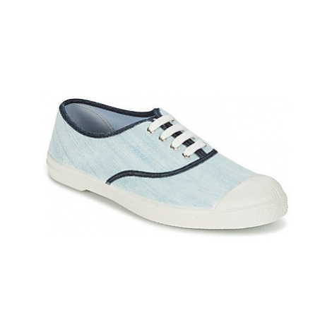 Bensimon TENNIS BLEACHED DENIM women's Shoes (Trainers) in Blue