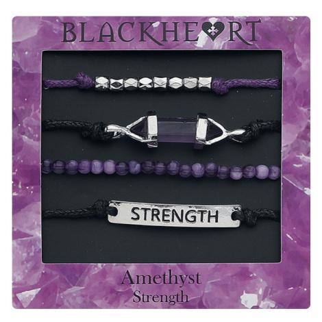 Blackheart - Amethyst - Strength - Bracelet Set - lilac