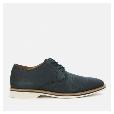 Clarks Men's Atticus Lace Nubuck Derby Shoes - Navy - UK
