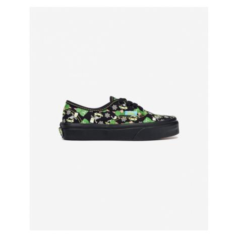 Vans The Simpsons Authentic Glow Bart Kids Sneakers Black