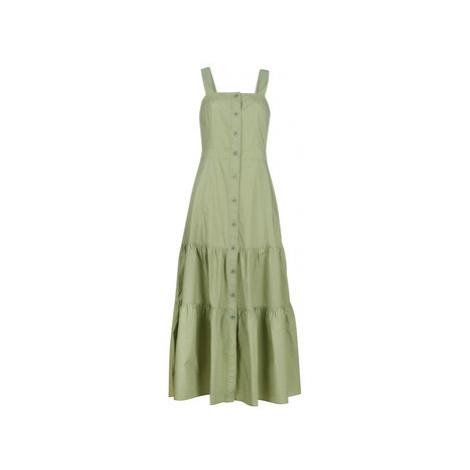 Benetton DELPHI women's Long Dress in Kaki United Colors of Benetton