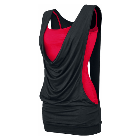 Forplay - Open Double Layer - Girls Top - black-red