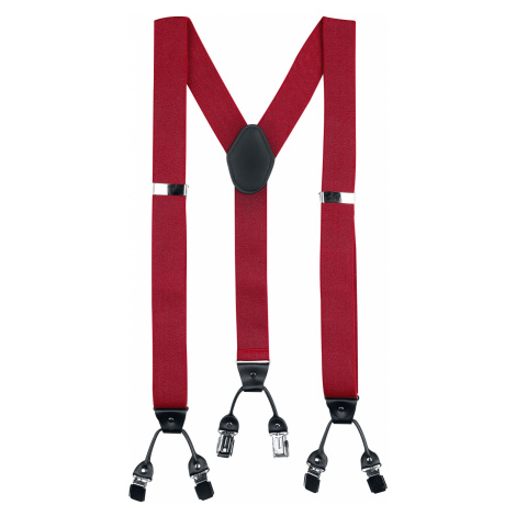 Banned - Rockabilly Braces - Suspenders - red