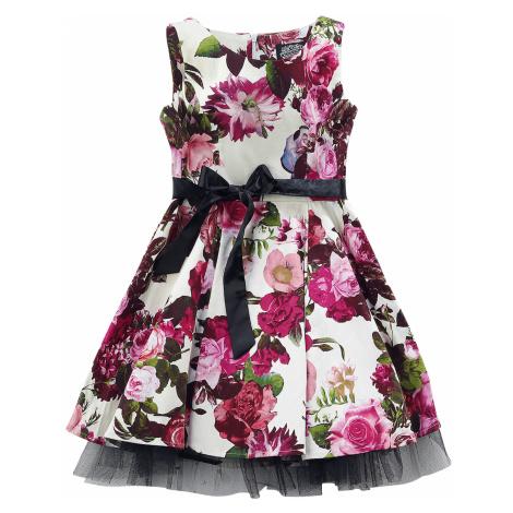 H&R London - Audrey 50's Cream Floral Swing Dress - Kids Dress - multicolour