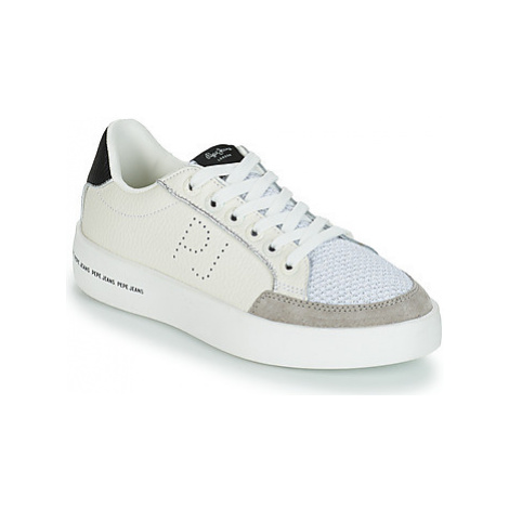 Pepe jeans BRIXTON MESH BASH women's Shoes (Trainers) in White