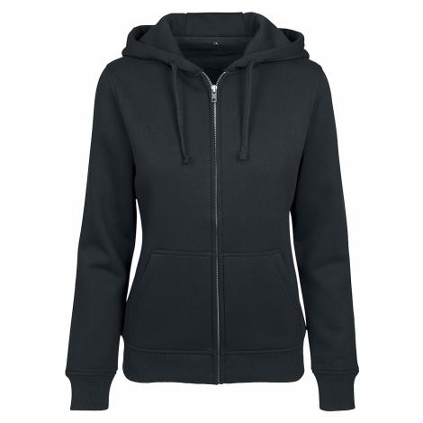 Built Your Brand - Ladies Sweat Zip Hoody - Girls hooded zip - black