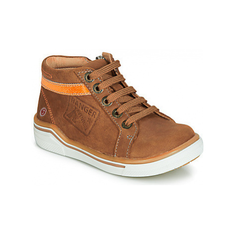 GBB QUITO boys's Children's Shoes (High-top Trainers) in Brown