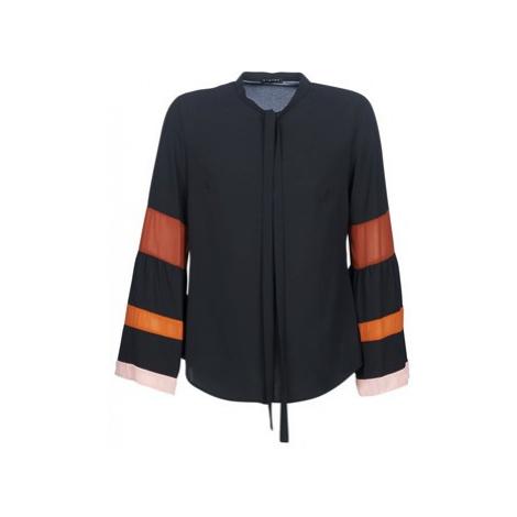 Sisley FRETTA women's Shirt in Black