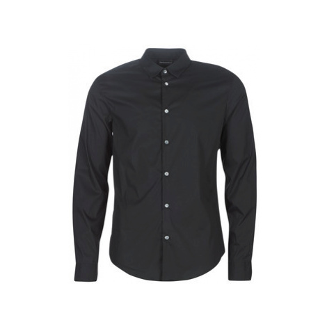 Emporio Armani 6G1C09-1N6RZ-0999 men's Long sleeved Shirt in Black