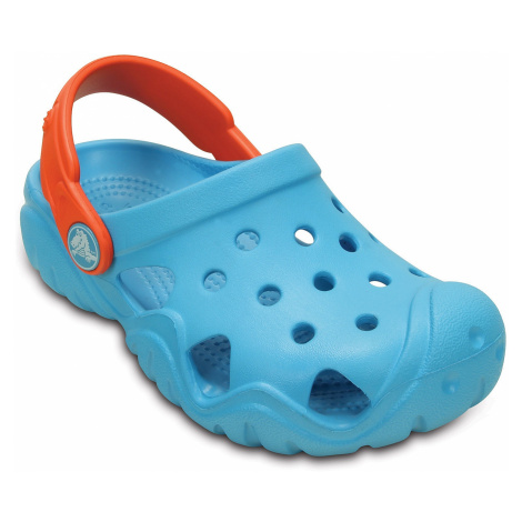 shoes Crocs Swiftwater Clog - Electric Blue/Tangerine