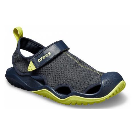 shoes Crocs Swiftwater Mesh Deck Sandal - Navy/Citrus - men´s