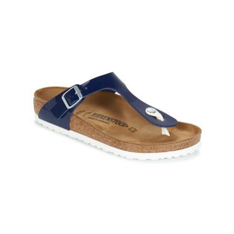Birkenstock GIZEH women's Flip flops / Sandals (Shoes) in Blue
