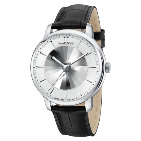 Atlantis Limited Edition Automatic Men's Watch, Leather strap, White, Stainless steel Swarovski