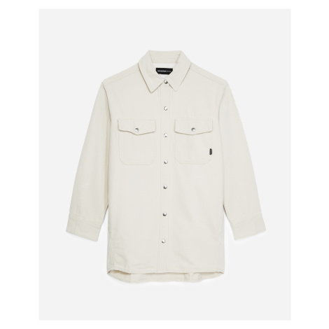 The Kooples - Ecru denim shirt with roomy pockets - WOMEN