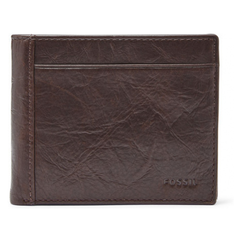 Fossil Men Neel Large Coin Pocket Bifold Brown - One size