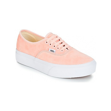 Vans AUTHENTIC PLATFORM 2.0 women's Shoes (Trainers) in Pink