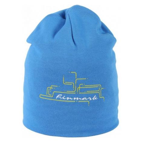 Finmark CHILDREN'S HAT blue - Winter hat