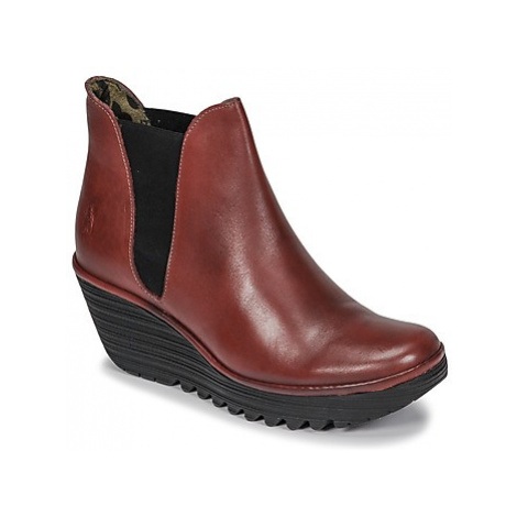 Fly London YOSS women's Low Ankle Boots in Red