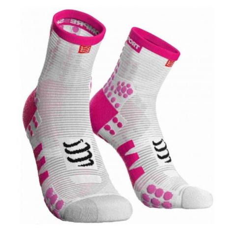 Compressport RACE V3.0 RUN HI light pink - Running socks