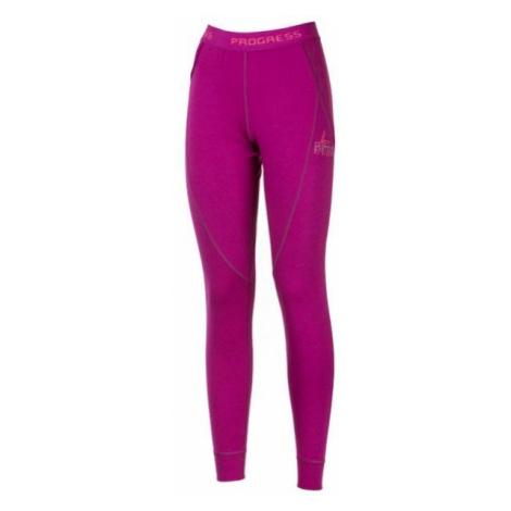 Progress SS BAMBOO LT red wine - Women's functional underpants