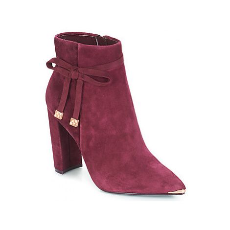 Ted Baker QATENA women's Low Ankle Boots in Red