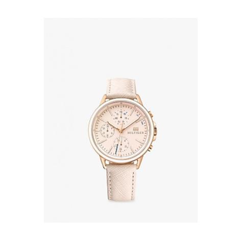 Tommy Hilfiger 1781789 Women's Chronograph Leather Strap Watch, Blush