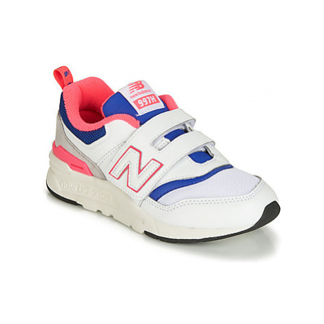 New Balance PZ997 girls's Children's Shoes (Trainers) in White