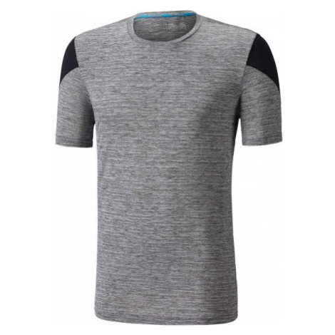 Mizuno ALPHA TEE grey - Men's short sleeve running T-shirt