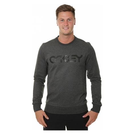 sweatshirt Oakley B1B Crew - Blackout Light Heather - men´s