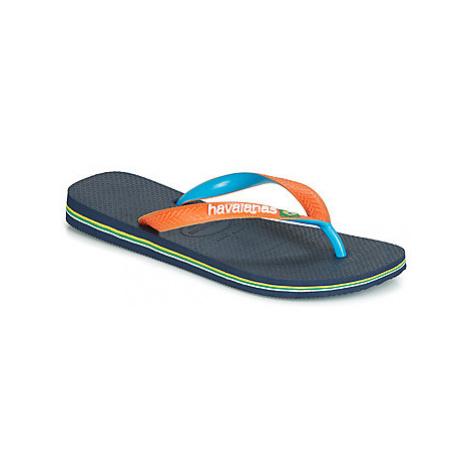 Havaianas BRASIL MIX women's Flip flops / Sandals (Shoes) in Blue