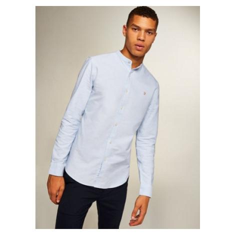 Mens Farah Sky Blue 'Brewer' Grandad Shirt*, BLUE