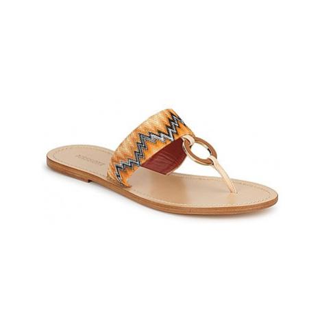 Missoni VM048 women's Flip flops / Sandals (Shoes) in Orange