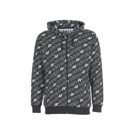 Adidas MONOGRAM FZ men's Sweatshirt in Black