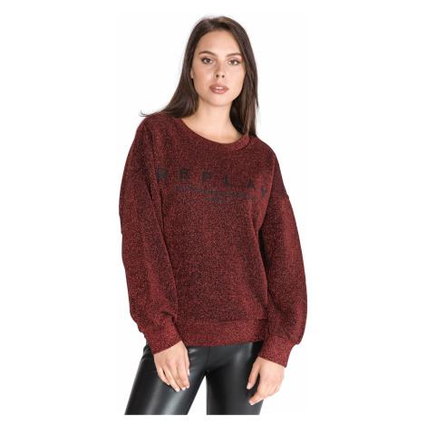 Replay Sweatshirt Red Beige