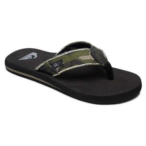 flip flops Quiksilver Monkey Abyss - XGCK/Green/Brown/Black - boy´s
