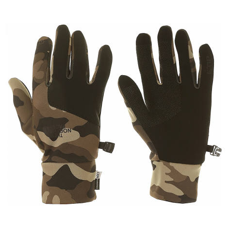 glove The North Face Etip - Burnt Olive Green Woods Camo Print