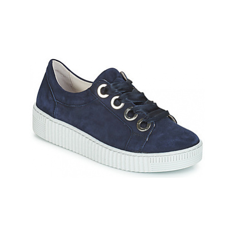 Gabor POMPON women's Shoes (Trainers) in Blue