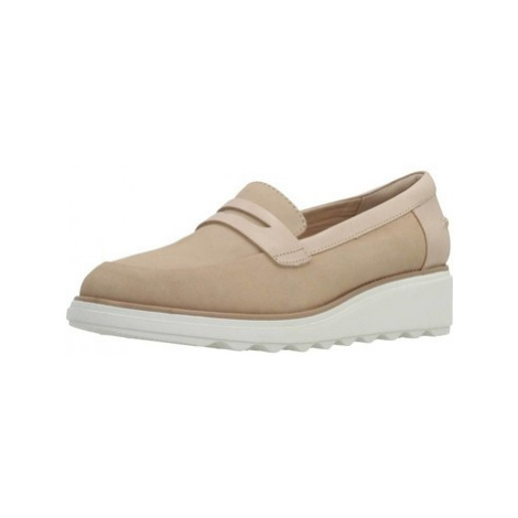 Clarks SHARON RANCH BLUSH NUBUCK women's Loafers / Casual Shoes in Beige