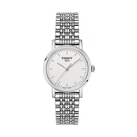 Tissot T1092101103100 Women's Everytime Bracelet Strap Watch, Silver/White