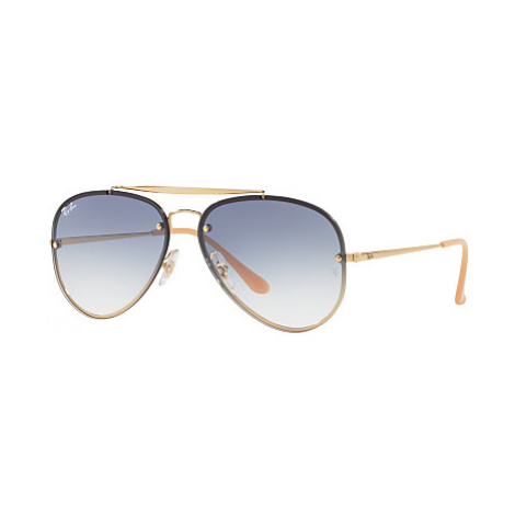 Ray-Ban RB3584N Blaze Aviator Sunglasses, Gold/Blue Gradient