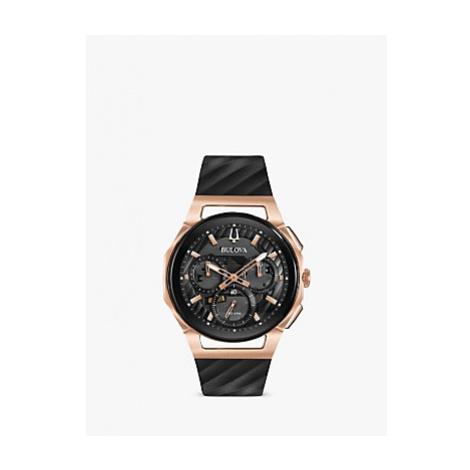 Bulova Men's Curv Chronograph Rubber Strap Watch
