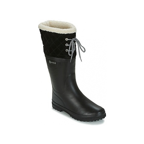 Aigle POLKA GIBOULEE women's Wellington Boots in Black