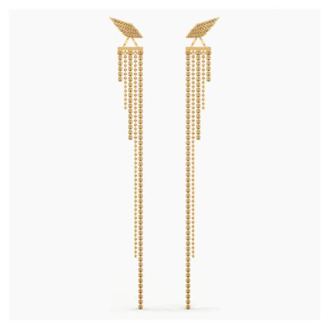 Fit Wonder Woman Pierced Earrings, Gold tone, Gold-tone plated Swarovski