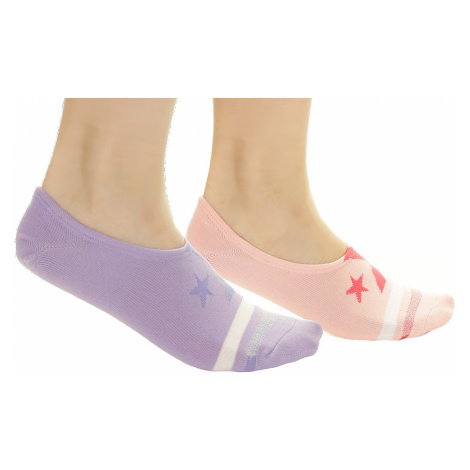 socks Converse MFC OX Microfiber Ultra Low 2 Pack - E817T/Bleached Coral/Washed Lilac - women´s