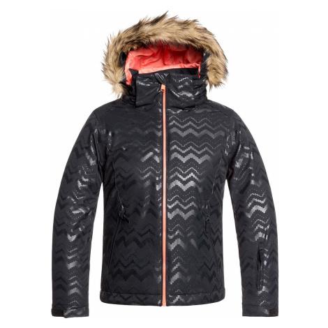 jacket Roxy Jet Ski Solid - KVA1/True Black - girl´s