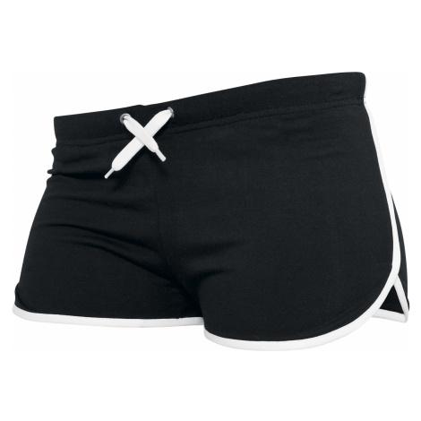 Urban Classics - Ladies French Terry - Girls hotpants - black-white