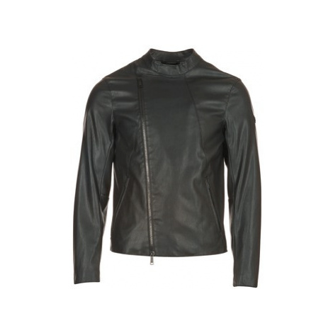 Armani jeans MAJORTE men's Leather jacket in Black