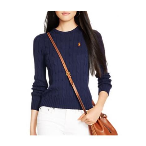 Polo Ralph Lauren Cable-Knit Cotton Jumper, Hunter Navy